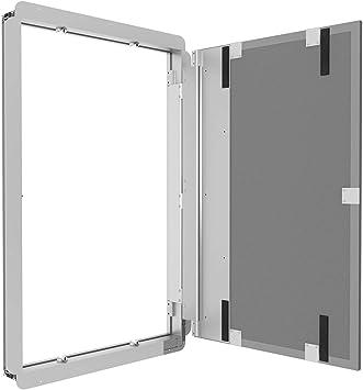 Gr/ö/ße RD-AL//S:400 x 800 mm Profi Revisionst/ür Revisionsklappe patentiertes T/ürsystem 11 Gr/ö/ßen befliesbar