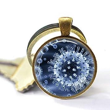 Virology Jewelry, llavero de virus, llavero de microbiología ...
