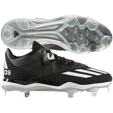 official photos b187e 3d11c adidas Men s Dual Threat Baseball 2 Black White Silver Metallic 8 ...