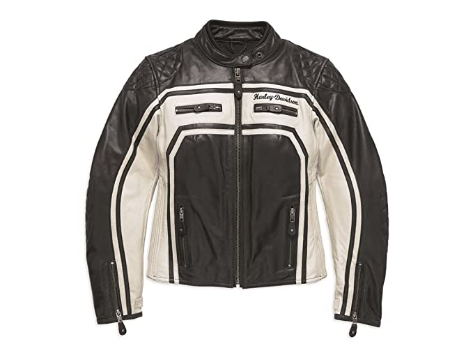 Harley-Davidson - Chaqueta - para Mujer Negro/Blanco Large ...