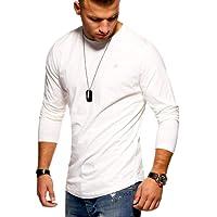 Jack & Jones T-Shirt à Manches Longues Homme Oversize Longshirt Col Rond