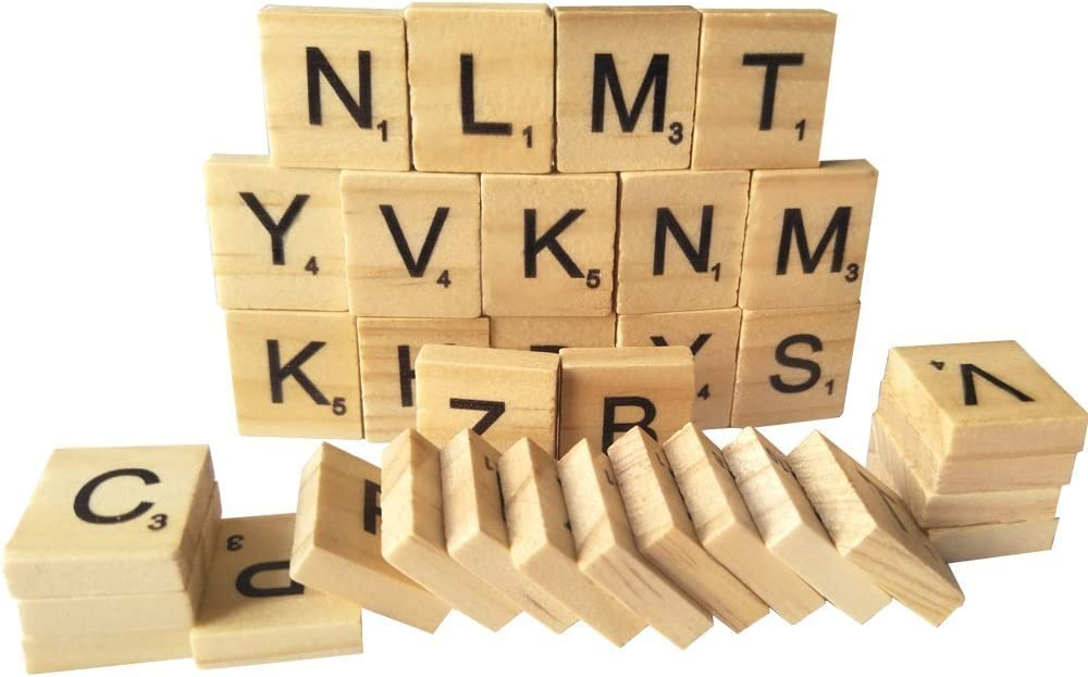 Wood Scrabble Tiles - NEW Scrabble Letters Great for Crafts, Pendants, Spelling (100PCS wooden of ONE pack) by flyco: Amazon.es: Juguetes y juegos