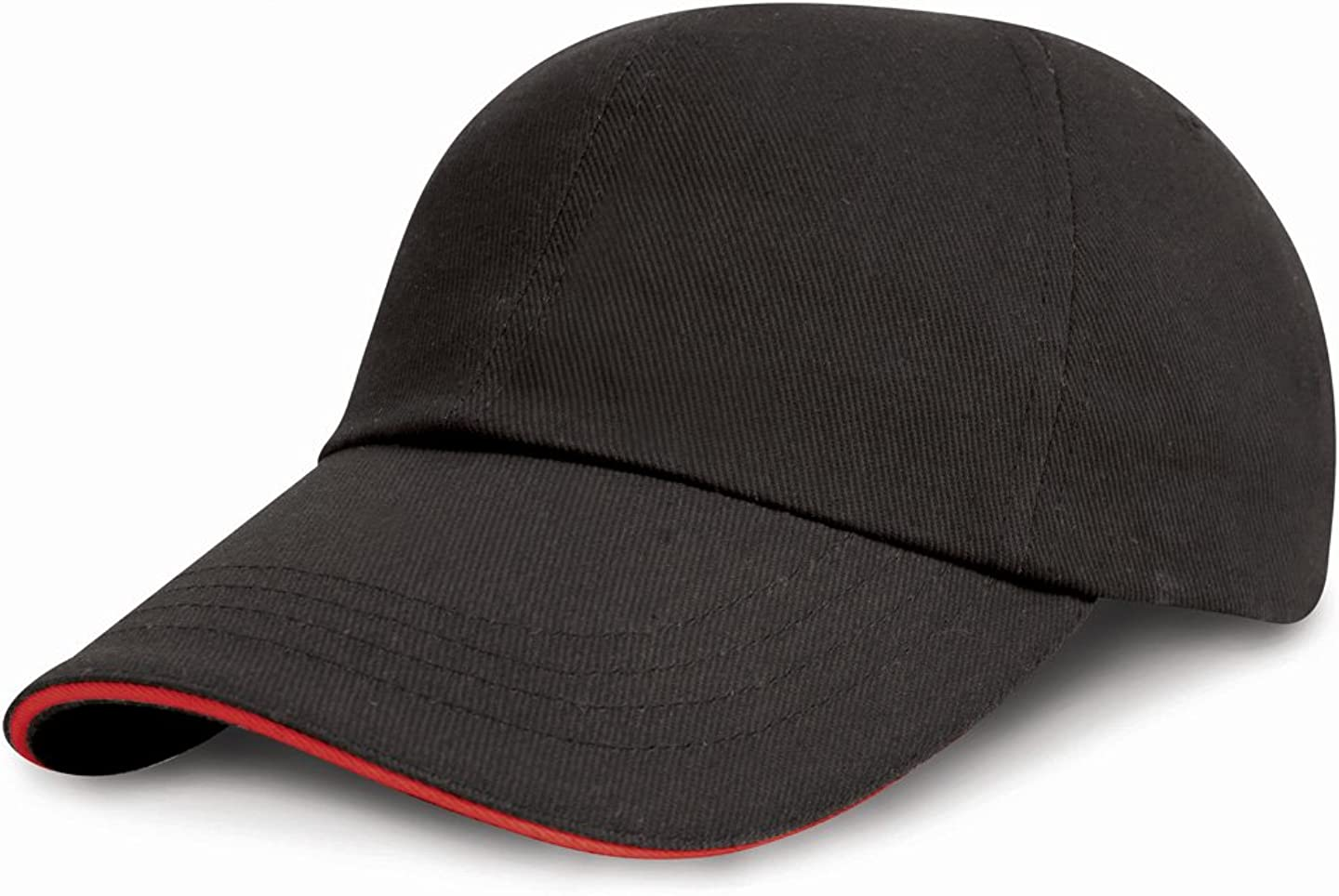 Mens-Low Profile Heavy Brushed Cotton Cap with Sandwich Peak-One Size