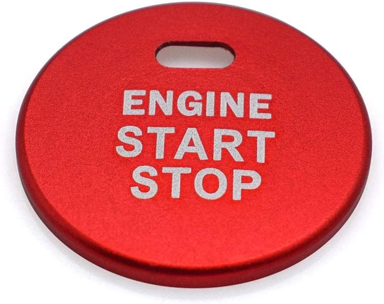 Ceyes Silver Engine Start Stop Button Cover+Ring Ignition Start Stop Button Trim Ignition Switch Button Sticker Push Button Switch Stickers for Subaru Forester Legacy Impreza Outback Ascent BRZ XV