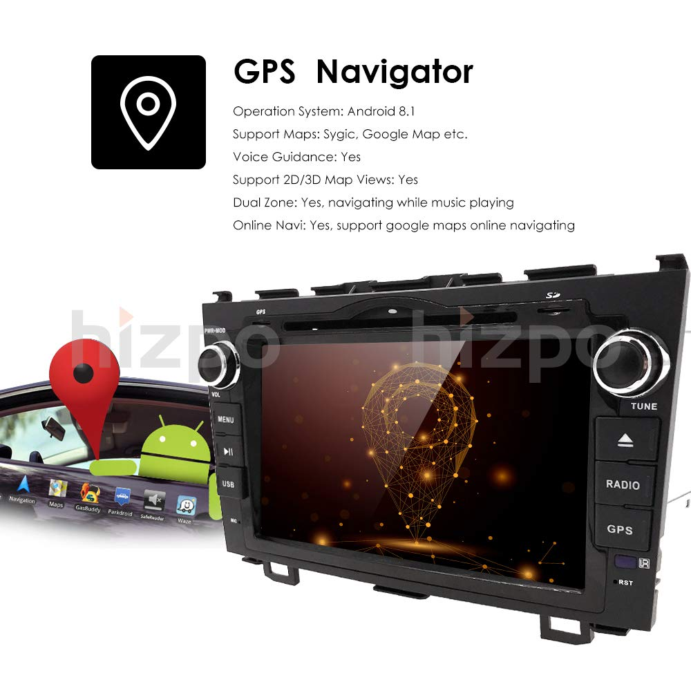 Hizpo Android 81 Car Radio For Honda Crv Cr V 2007 2008 Pictures Images Stereo Wiring Diagram Dvd Panasonic Wallpaper 2009 2010 2011 8 Inch Player Wifi Gps Navigation Bluetooth Camera