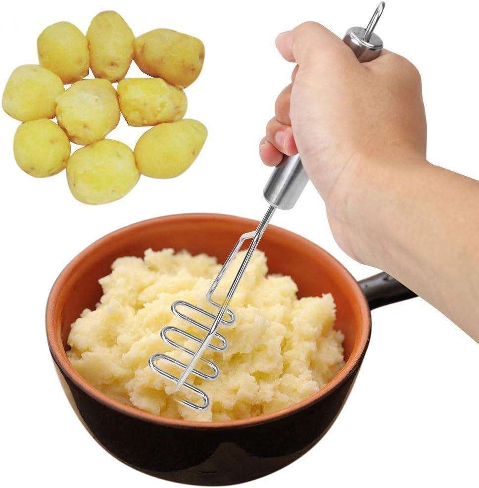 glatte Kartoffelp/üree Complex Wellenform K/üchenzubeh/ör f/ür bequeme Kartoffelstampfer aus Edelstahl