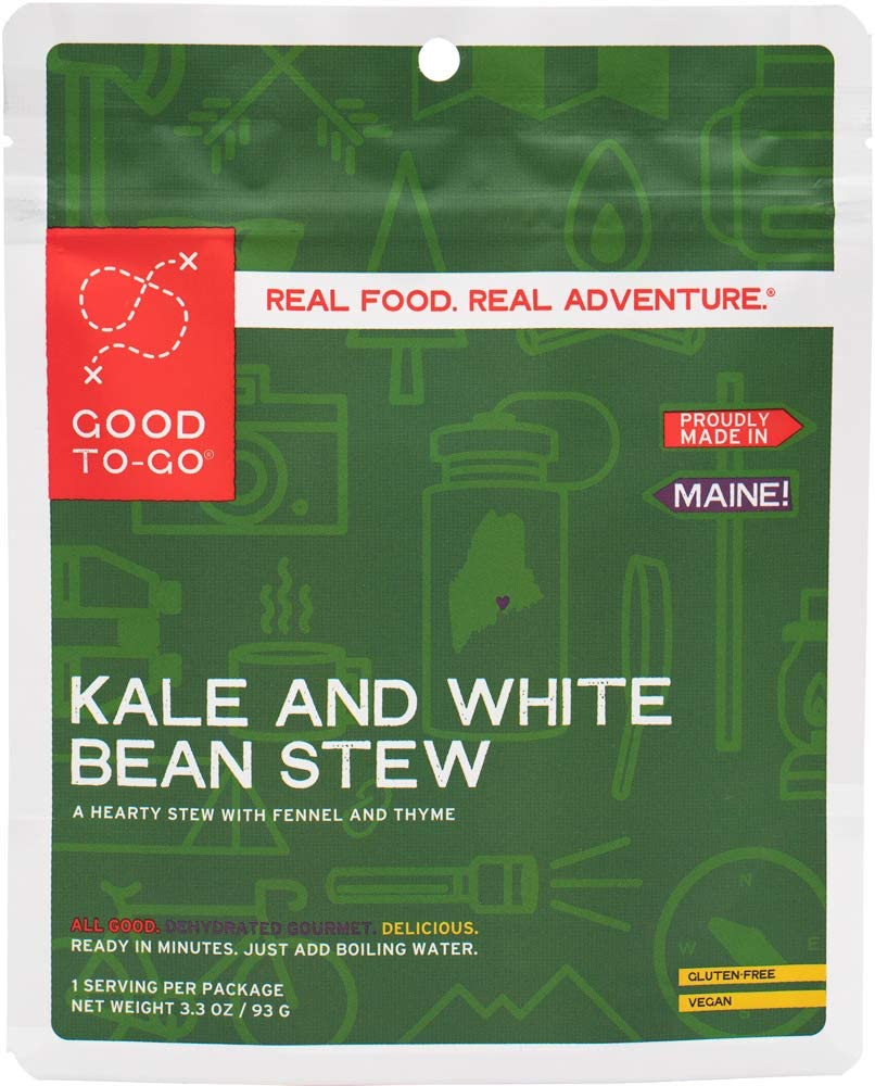 GOOD TO-GO Kale and White Bean Stew | Dehydrated Backpacking and Camping Food | Lightweight | Easy to Prepare