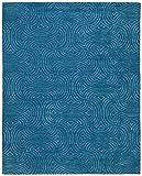 Alfombra cosmopolita Rivet Modern Wave, 8 'x 10', azul