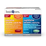 Basic Care Severe Cold & Flu Relief; Daytime and Nighttime Cold and Flu Medicine Combo Pack, 24 Count