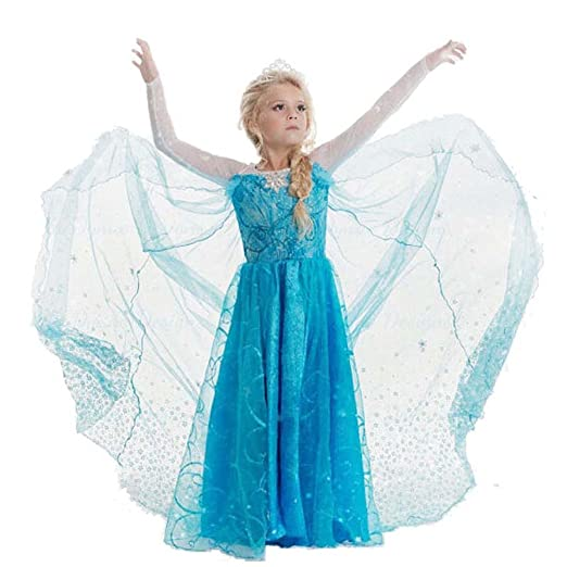 Daily Proposal FE11 Disney Frozen Inspired Lace Elsa Costume Dress Girl Cosplay Party 3T-12  sc 1 st  Amazon.com & Amazon.com: Daily Proposal FE11 Disney Frozen Inspired Lace Elsa ...