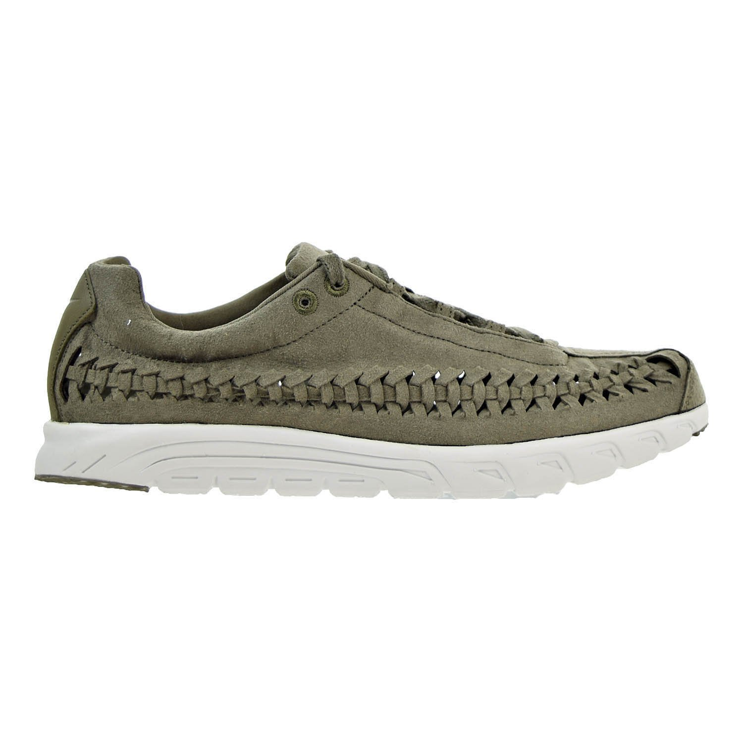 NIKE Men's Mayfly Woven Casual Shoe B071RTRN4T 10.5 D(M) US|Medium Olive/Light Bone-black