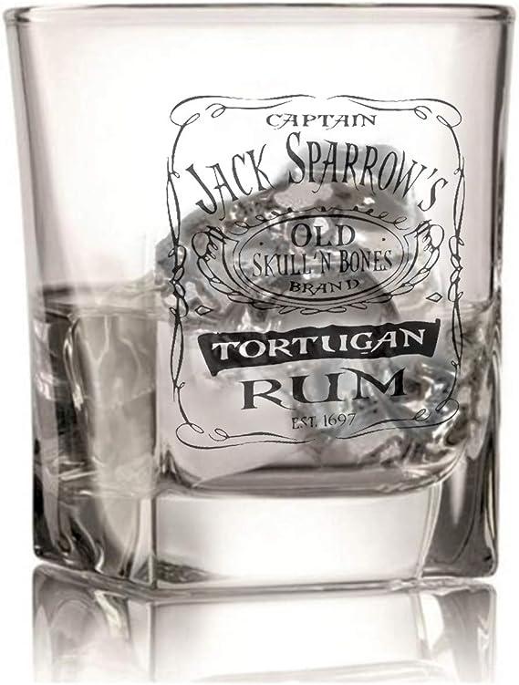 Cristal pirata de ron - Jack Sparrow Pirates of The Caribbean - Regalo grabado
