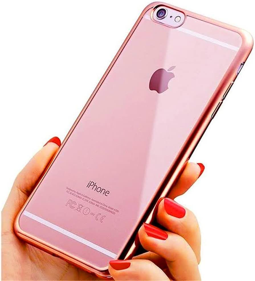 iPhone 8 Plus Case, iPhone 7 Plus Case, Rose Gold PC: Amazon.co.uk:  Electronics