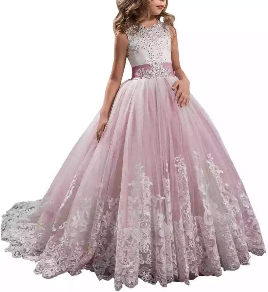 Smaco 3 13 Years Oldflower Girl Wedding Evening Party Dresses Kids Dresses For Girls Princess Dress Teenage Dress Amazon Co Uk Sports Outdoors