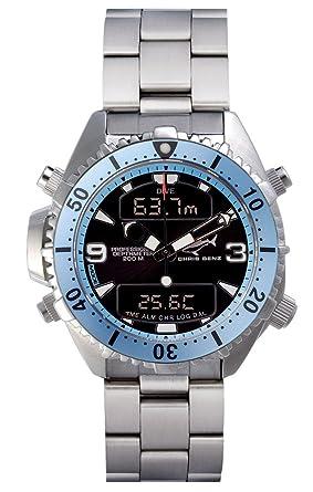 Chris Benz Depthmeter Digital CB-D200-H-MB Cronógrafo para hombres Ordenador de Buceo: Amazon.es: Relojes