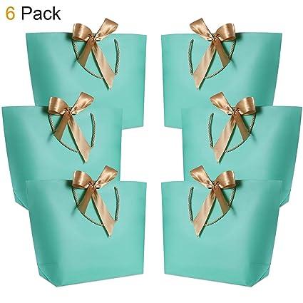 Goodquan 12 paquetes de bolsas de regalo pequeñas con asas de ...