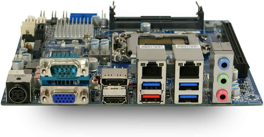 Dual Intel GbE LAN GigaIPC Intel 8th//9th Gen Core Q370 Mini ITX Motherboard Triple Display Support 12-24V DC-in