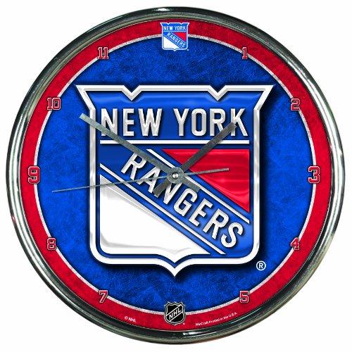 - NHL New York Rangers Chrome Clock, 12