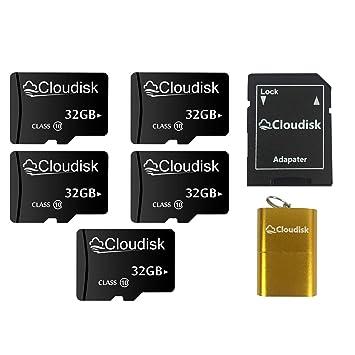 Cloudisk Tarjeta 5pack 32 GB Micro SD Clase 10 USH-1 con ...