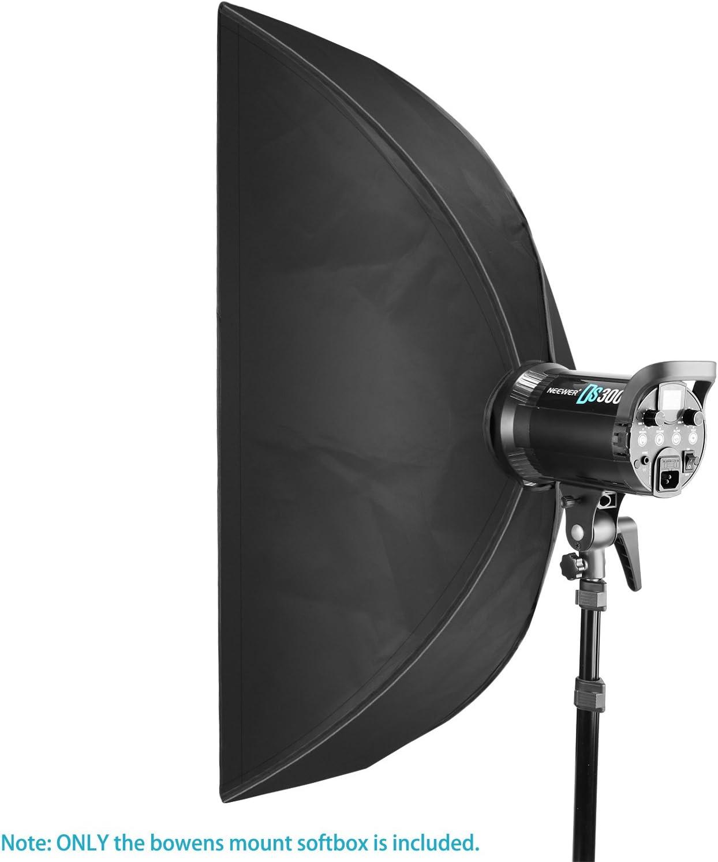 Neewer 35 x 160 Centímetros Caja de Luz Rectangular con Bowens Montura Speedring, Difusor Suave y Bolsa para Speedlite Estudio Flash Monolight, ...