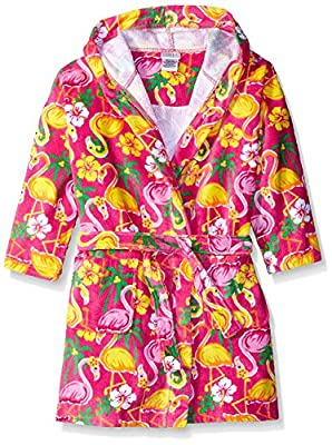 Komar Kids Girls Cotton Hooded Terry Robe Cover Up, Kids Sizes 3-12