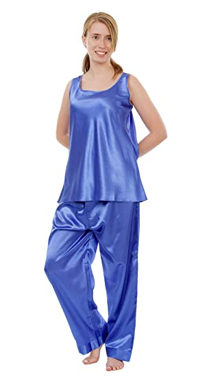 e462231d16 Women s Satin PJ Set with Cami Top at Amazon Women s Clothing store ...