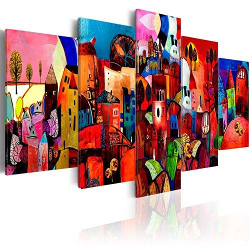 murando - Cuadro en Lienzo Colorido 200x100 - Impresion de 5 Piezas Material Tejido no Tejido Impresion Artistica Imagen Grafica Decoracion de Pared 051447