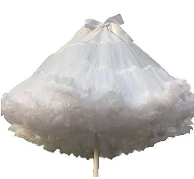 f36f805b6 Nuoqi Lolita Princess Fancy Layered White Petticoat Organza Tutu Skirt  Vintage Petticoat