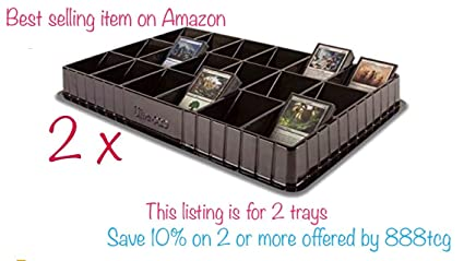 Amazon.com: 2 bandejas negras Ultra Pro TCG CCG Sports para ...