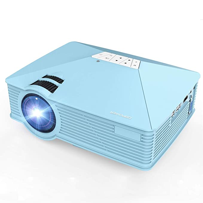 DBPOWER GP15 Mini Proyector Portatil de 1800 Lúmenes, LED Vídeo ...
