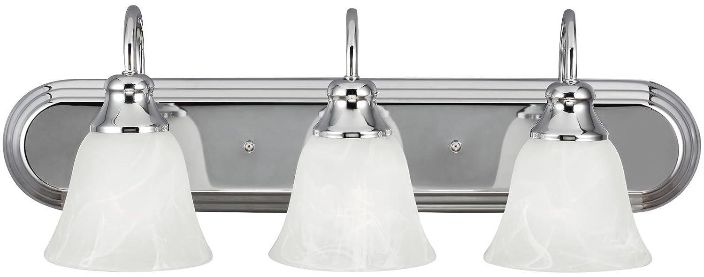 Sea Gull照明WindgateクロムEnergy Star three-light LED Bath Vanity   B076FS6GBH