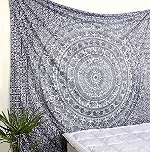 Popular Handicrafts Black and White Hippie Tapestries Mandala Tapestry Collage Dorm Beach Throw Wall Art Bohemian tapestryWall Hanging Boho Tapestries Bedspread
