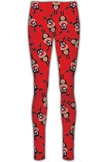 f91ea1c3947546 Be Jealous Womens Xmas Legging Womens Rudolph Santa Wall Jersey Tree Bells  Jegging Pants
