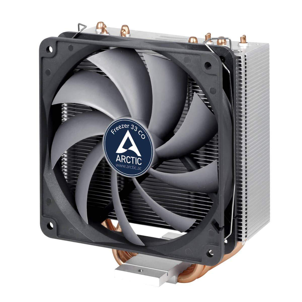 ARCTIC Freezer 33 CO - Semi Passive CPU Tower Cooler with Dual Ball Bearing 120 mm PWM Fan for Intel 115X/2011-3 & AMD AM4 - German Semi Passive Fan Controller - PWM Sharing Technology (PST)