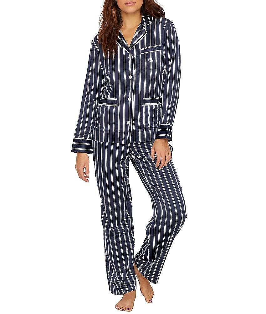 041d0479e670 Lauren Ralph Lauren Womens Satin Notch Collar PJ at Amazon Women s ...