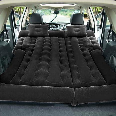 KJLM Viaggio Materasso Gonfiabile Sedile Posteriore Materasso per Auto Universale Cuscino Floccato materassino da Campeggio per Bambini Grigio