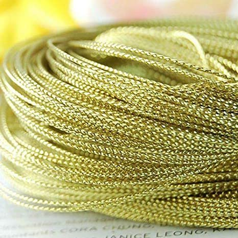 100 Yards Gold Metallic Thread String Cord DIY Jewelry Beading Craft