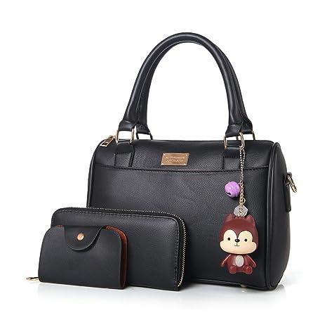 DEERWORD Mujer Shoppers y bolsos de hombro Bolsos bandolera Carteras de mano y clutches 3pcs Set