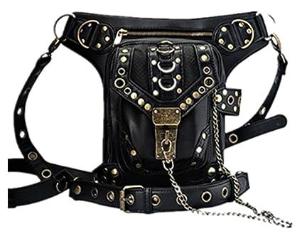 OMAS Punk sac à main taille sac à bandoulière sac à main pièce jambe Vintage gothique Steampunk 4C1fBtZ