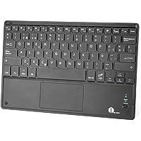 1byone Ultra-delgado teclado Inalambrico con una función de multi-touchpad y batería recargable, QWERTY español,Negro