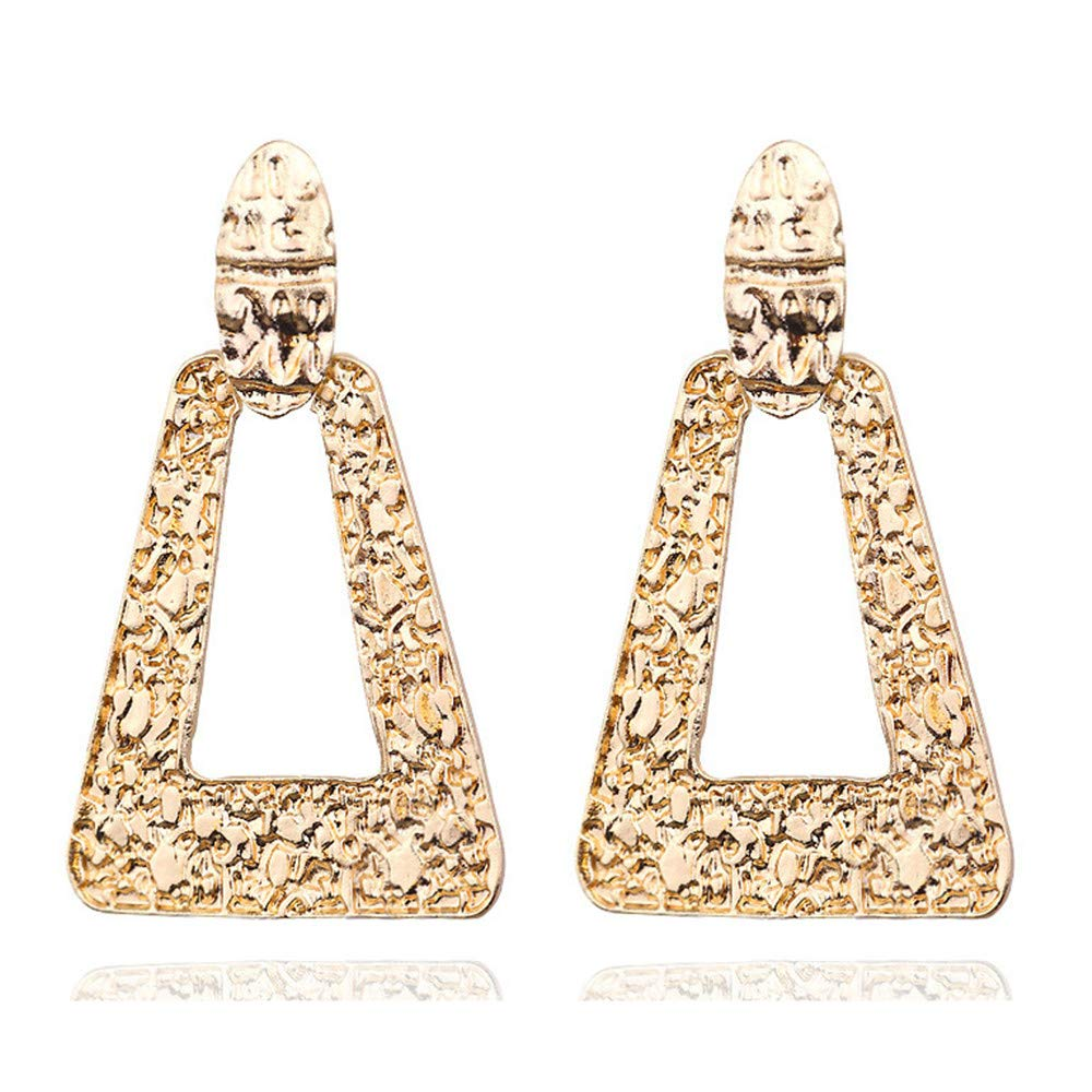 Girls Earring western style Simple Geometric texture character earring Fashion accessories