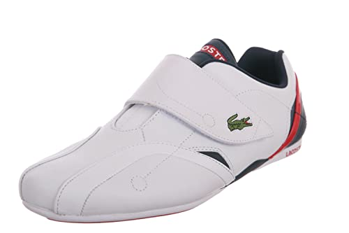 452c709be6bdf Lacoste Protect Le Spm White Navy Red Mens White Leather Strap Slip On Sneakers  Shoes 13  Amazon.ca  Shoes   Handbags