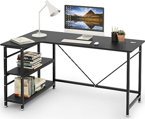 Best modern office desk: SEISSO Modern L-Shaped Computer Desk