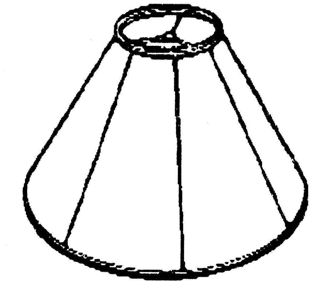 Royal Designs Empire Wall Lamp Shade, White, 5 x 13 x 8