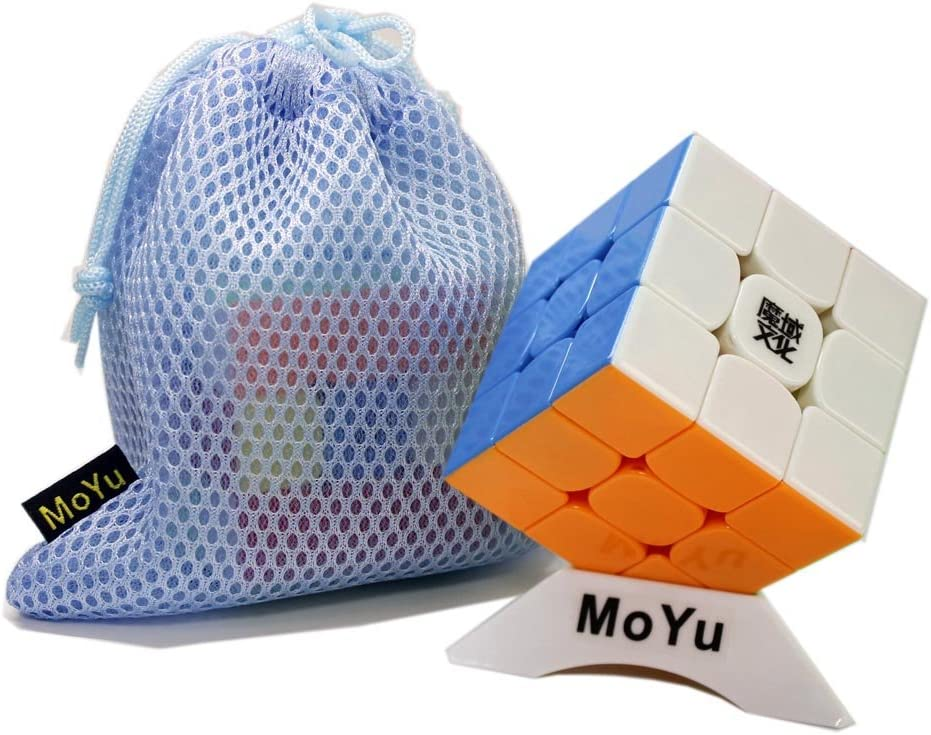 FunnyGoo MoYu WeiLong GTS2M GTS 2M V2M 3x3x3 Cubo mágico + un soporte de MoYu Logo Cube y un MoYu Logo Cube Bag: Amazon.es: Juguetes y juegos