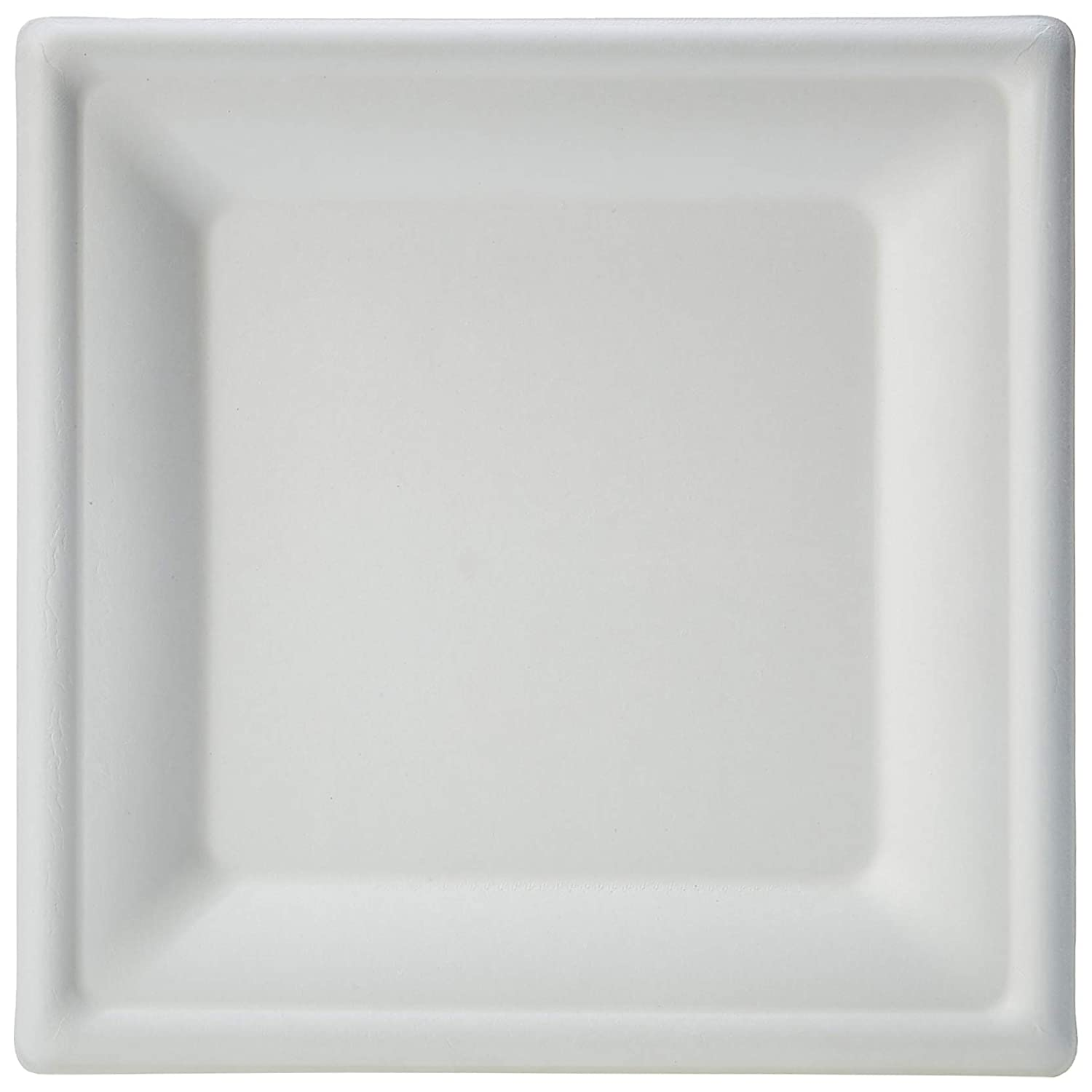 10-Inches AmazonBasics Compostable Square Plate, 8-Inches, 500 Plates