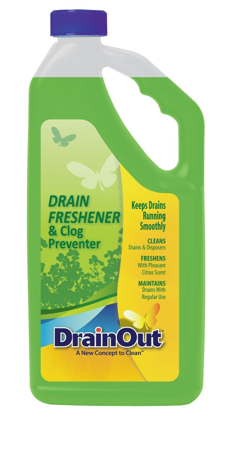 DrainOUT Drain Freshener & Clog Preventer, 32 Fl. Oz. Bottle, 6 Pack