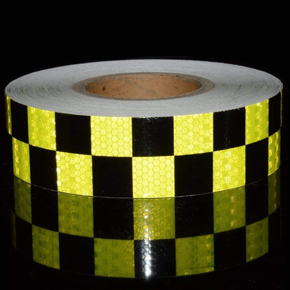 Reemky riflettente nastro di sicurezza 2x 16ft arancione nero notte avvertimento attenzione adesivo Conspicuity Checker marcatura decal sticker roll film Truck RV 5CM x 5M