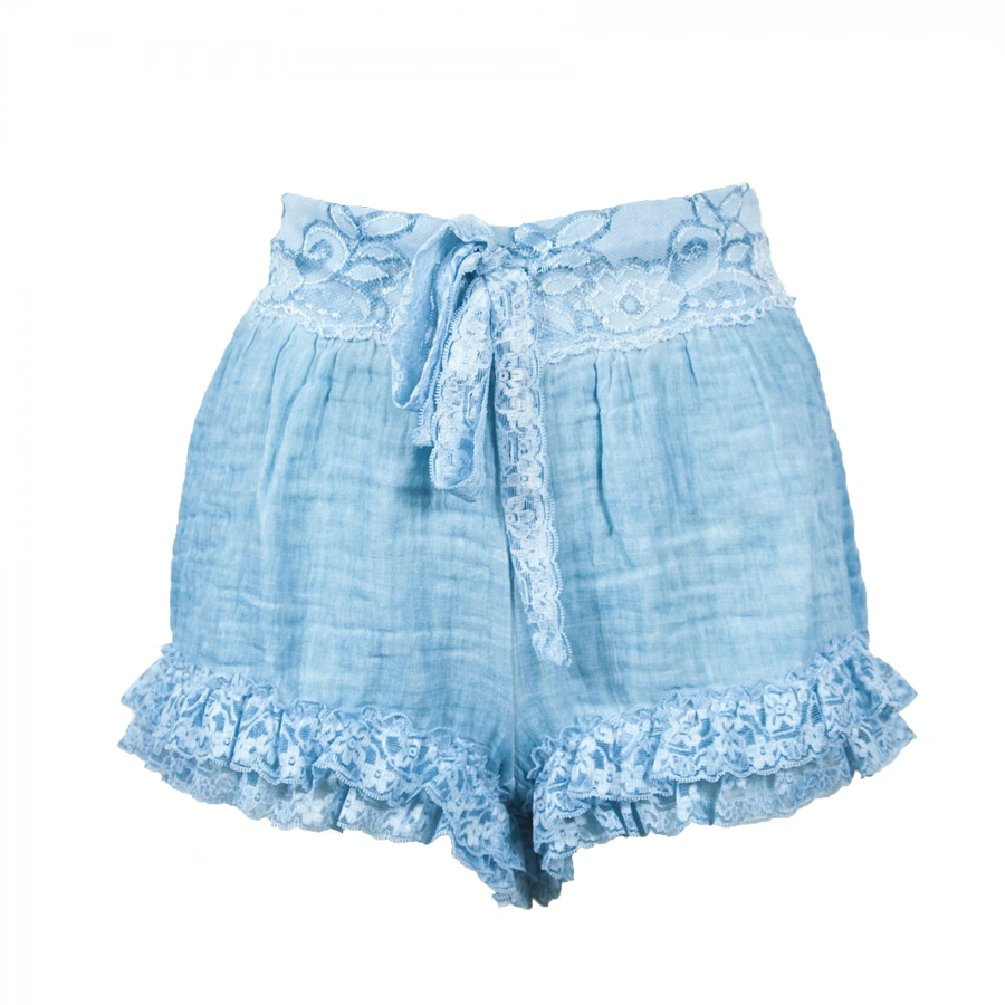 Pin-Up Stars Women's Shorts With Lace in Size 44 Blue
