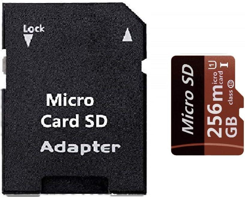 tabletas y otros dispositivos compatibles Tarjeta Micro SD de 256 GB de alta velocidad Clase 10 SDXC con adaptador SD gratis dise/ñada para smartphones Android